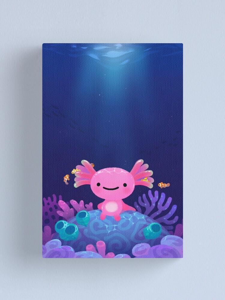 Alternate view of Coral axolotl Canvas Print