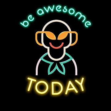 80s Neon Im Totally So Big Be Awesome Today Kid Mens Youth Women Smiley face Short-Sleeve Unisex T-Shirt by KiRUS