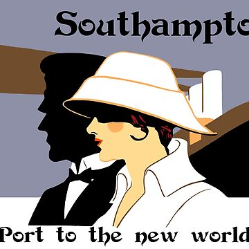 Retro naval marine style ad Southampton by aapshop