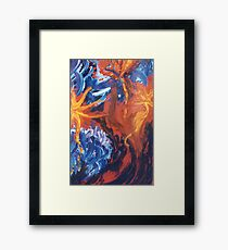 Three Bursts Framed Print