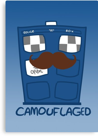 THE TARDIS IS CAMOUFLAGED by saltyblack