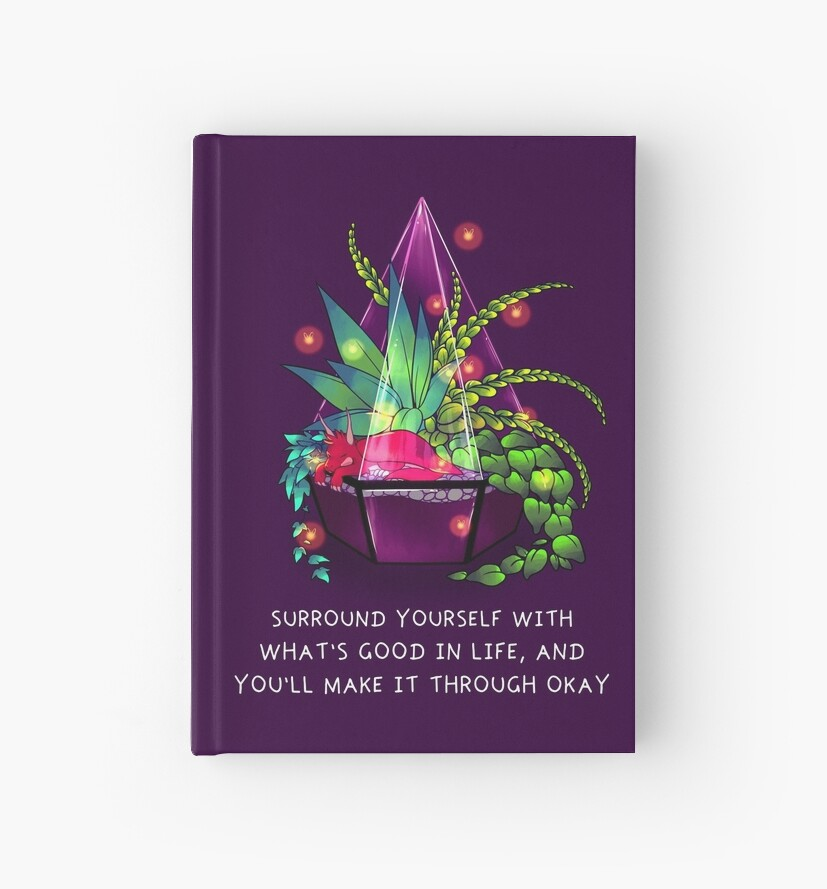 """""""Surround Yourself With What's Good in Life"""" Terrarium Dragon by thelatestkate"""