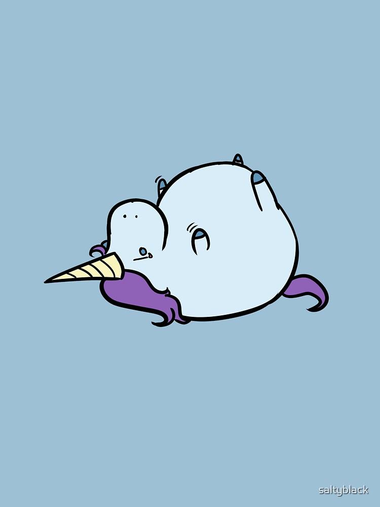Sad fat unicorn | Unisex T-Shirt