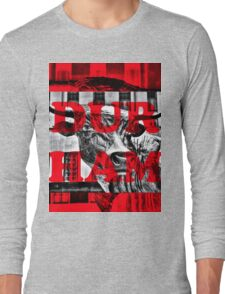 Durham Bull Pop in Red Long Sleeve T-Shirt