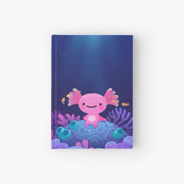 Coral axolotl Hardcover Journal