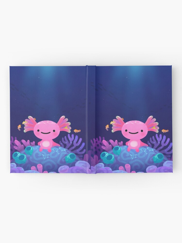 Alternate view of Coral axolotl Hardcover Journal