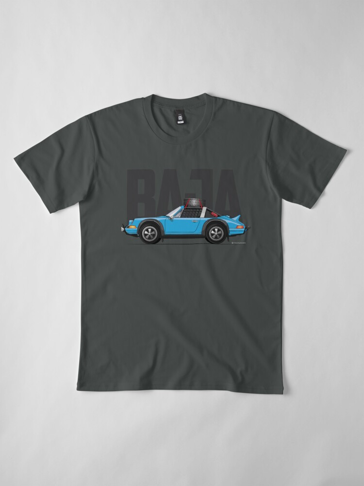 Alternate view of Baja-Light Blue Premium T-Shirt