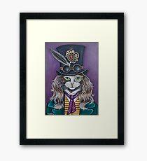 Steampunk Cat!   Framed Print