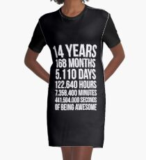Awesome 14th Birthday Shirt Funny 14 Year Old Gift Graphic T Dress