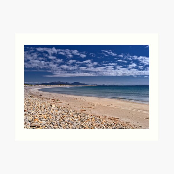 Benbecula: Miles and Miles of Golden Sand Art Print