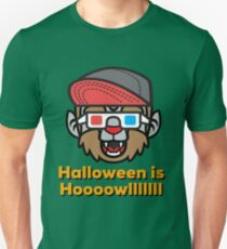 halloween is howl funny wolf werewolf party tshirt Unisex T-Shirt