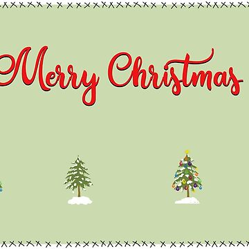 Merry Christmas Trees Stitches by DesignsByDebQ
