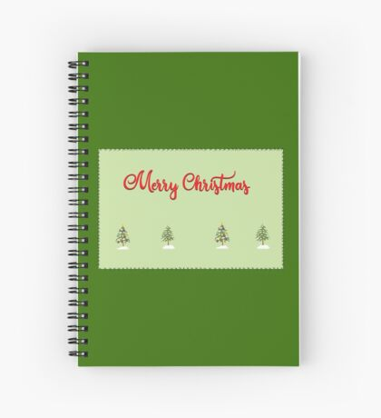 Merry Christmas Trees Stitches Spiral Notebook