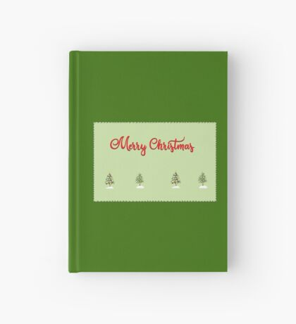 Merry Christmas Trees Stitches Hardcover Journal