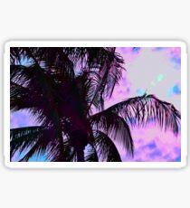 Painted Palm Sunset Sticker