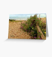 Whitstable Beach Greeting Card