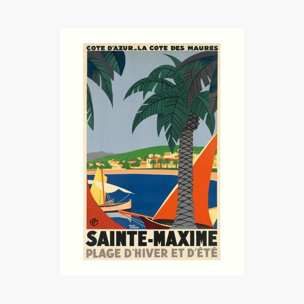 Sainte-Maxime France Vintage Travel Poster Art Print