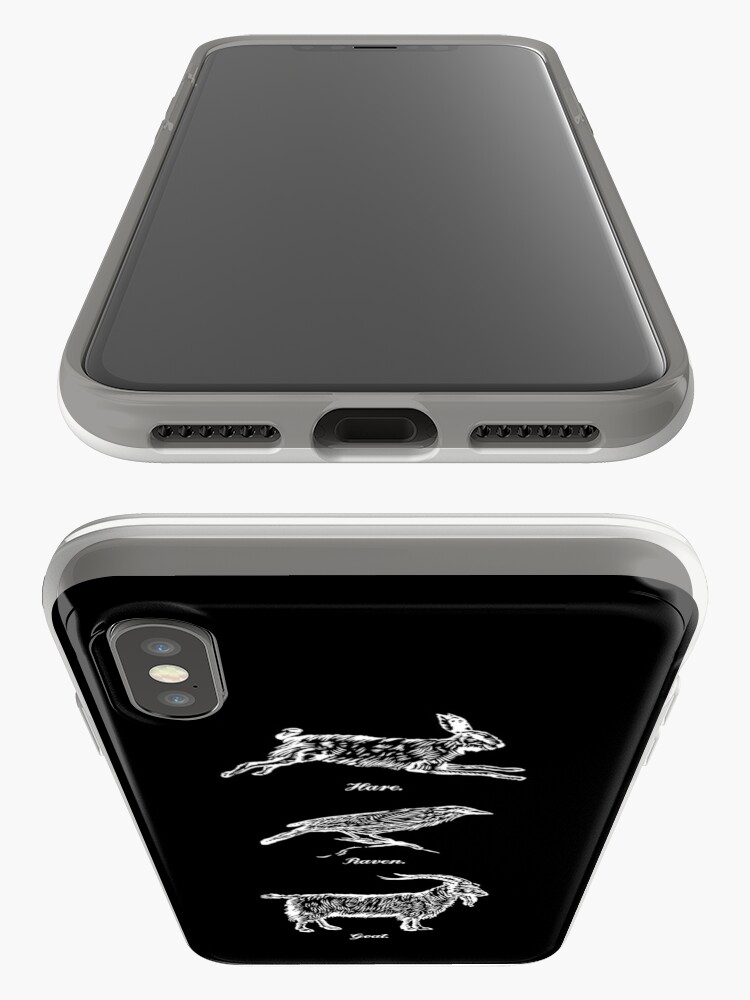 Alternate view of Hare, Raven, Goat iPhone Case & Cover