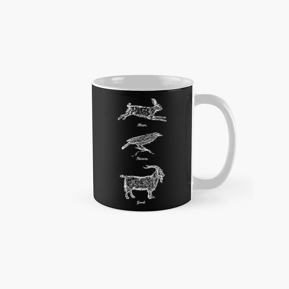 Hare, Raven, Goat Mug