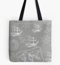 Sailing to the edge of the world Tote Bag