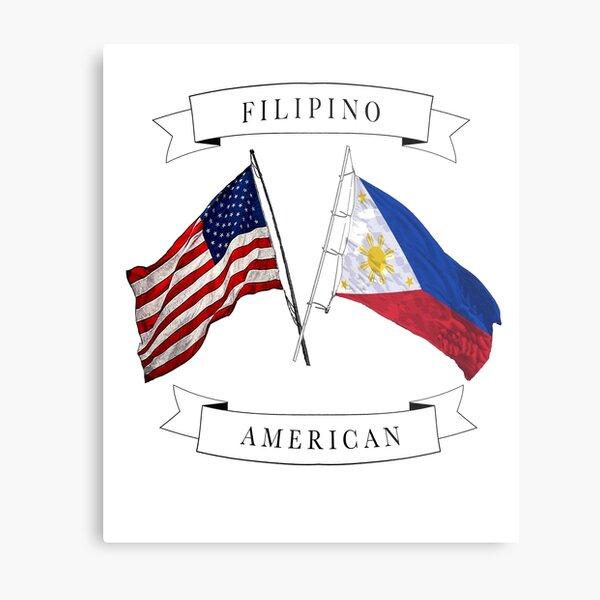Filipino American roots ancestry design Metal Print