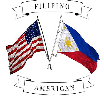 Filipino American roots ancestry design by jhussar