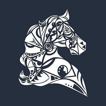 Maori Horse White - Gift Idea by vicoli-shirts