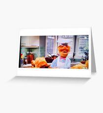 Tarjeta de felicitación El chef sueco prepara la cena de Acción de Gracias