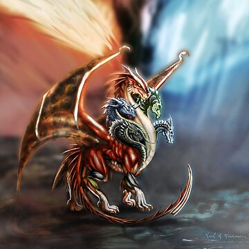 Tiamat - Queen of Dragons by unnaturalforces