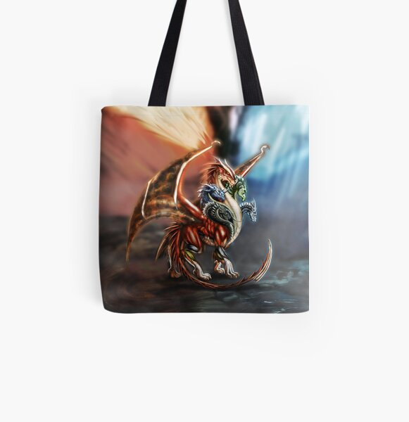 Tiamat - Queen of Dragons All Over Print Tote Bag