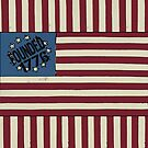 Stars and Stripes 1776 USA Flag design by Ginny Luttrell