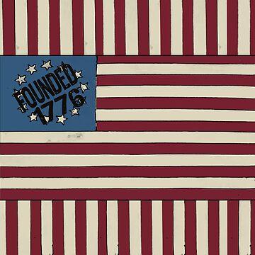 Stars and Stripes 1776 USA Flag design by ginnyl52