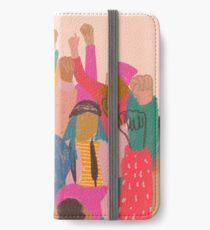 Frauen März iPhone Flip-Case/Hülle/Skin