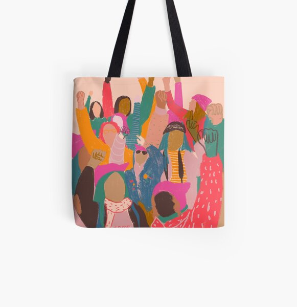 Women's March All Over Print Tote Bag