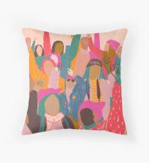 Women's March Throw Pillow