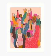 Frauen März Kunstdruck