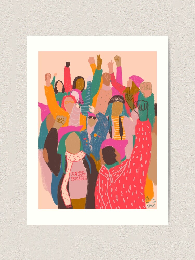 Alternate view of Women's March Art Print