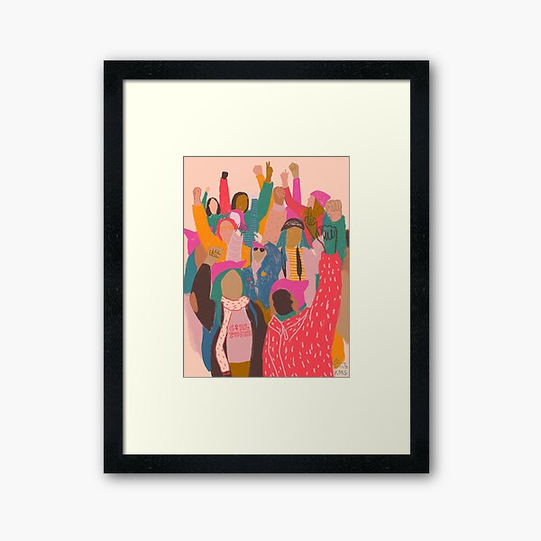 Women's March Framed Art Print