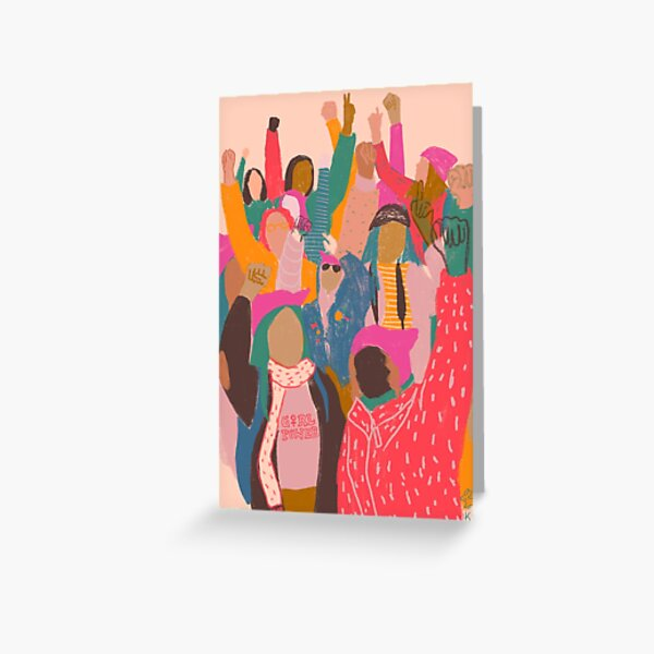 Women's March Greeting Card
