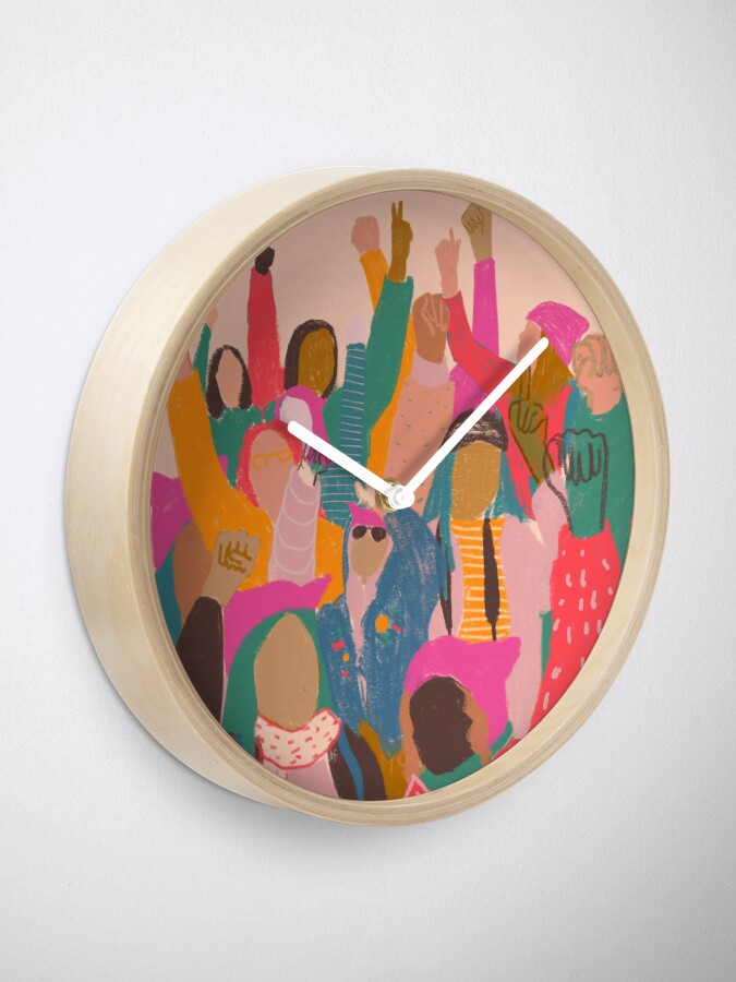 Alternate view of Women's March Clock