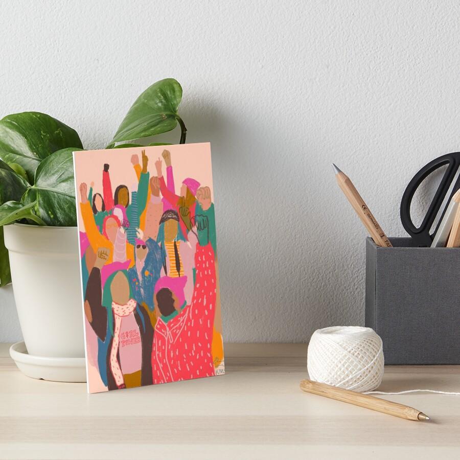 Women's March Art Board Print