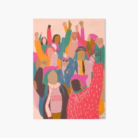 Marcha de mujeres Lámina rígida