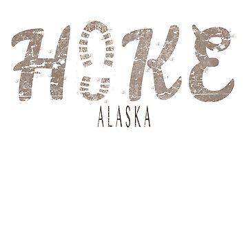Hike Alaska outdoors footprint design by jhussar