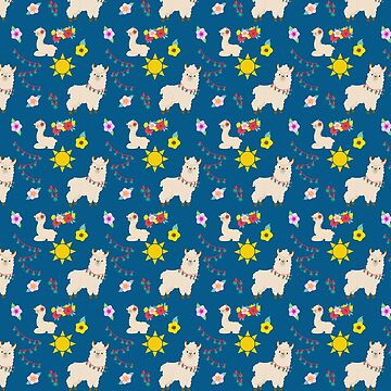 LLAMAS Cute Pattern by Greenbaby