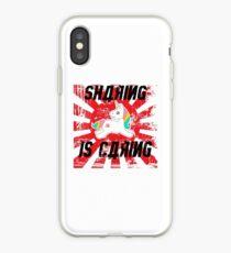 Sharing is Caring Socialist Unicorn iPhone Case