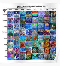64 Hexagrams Poster