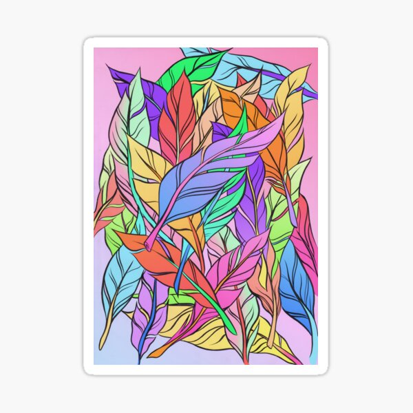 Feathers Sticker