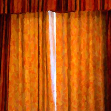 Orange Curtains Painting by creepyjoe
