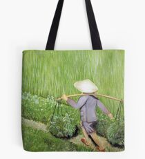 Morning in the Rice Fields Tote Bag