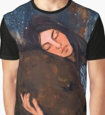 The Girl and the Bear Graphic T-Shirt